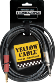 Yellow Cable -  Neutrik -  Au-Silent - jack / jack -  3 meter