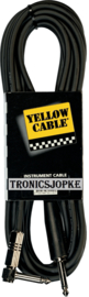 Yellow Cable  -  pluggen > Jack / jack + gebogen - 6 meter