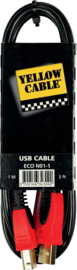 Yellow Cable - USB kabel - 1 M