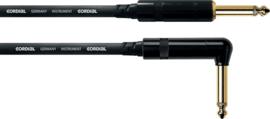 Cordial - Rechte/haakse jacks - Vergulde plug - 3m