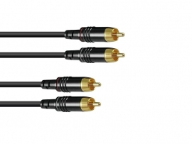 SOMMER CABLE RCA-kabel 2x2 0.5m bk Hicon