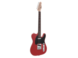 DIMAVERY TL-401 E-Guitar, rood
