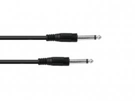 OMNITRONIC Jack kabel 6.3 mono 0.5m bk