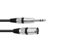 OMNITRONIC Adaptercable XLR(M)/Jack stereo 5m bk