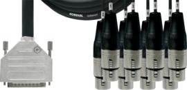 Cordial - D-Sub/8x XLR femelles - 1.5m
