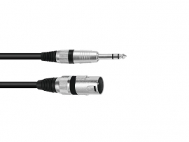 OMNITRONIC Adaptercable XLR(M)/Jack stereo 0.2m bk