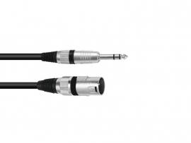 OMNITRONIC Adaptercable XLR(M)/Jack stereo 0.2m bk