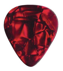 DIMAVERY Pick 0,71mm Pearl effect red