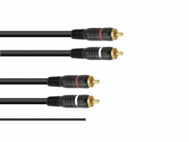 OMNITRONIC RCA kabel 2x2 ground 1.5m