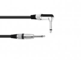 OMNITRONIC Jack cable 6.3 mono 1x 90° 5m bk