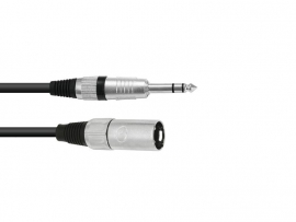 OMNITRONIC - Adaptercable - XLR - (M) - Jack stereo -  90 cm.  bk