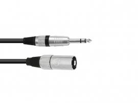 OMNITRONIC - Adaptercable - XLR - (M) - Jack stereo -  90 cm.  bk