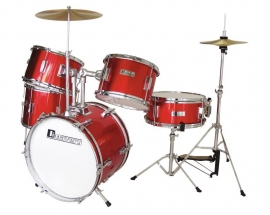 DIMAVERY JDS-305 Kids Drum Set, rood
