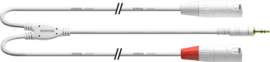 Cordial - Mini-J stereo / 2 XLR male - 1.8m wit