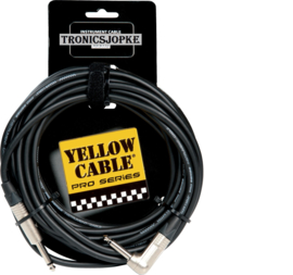 Yellow Cable - Jack - Gebogen Jack - 6  Meter
