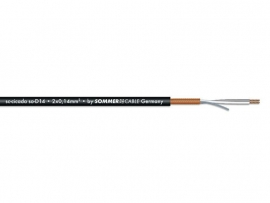 Sommer Cable Microfoon kabel 2x0.14 100m bk CICADE