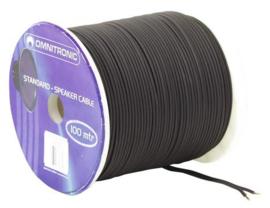 OMNITRONIC Speaker cable 2x1.5 100 m bk