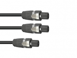 SOMMER CABLE Adaptercable Speakon/2xSpeakon 1m bk