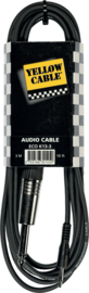 Yellow Cable -Jack mono 3,5mm/jack mono 6,35mm/3m