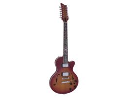 DIMAVERY LP-612 E-gitaar, gevlamde sunburst