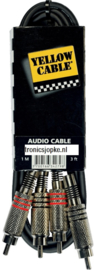 Yellow Cable - 2 rca male/2 rca male 1m