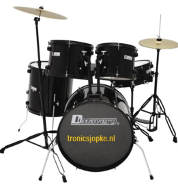 DIMAVERY DS-200 Drum set, zwart