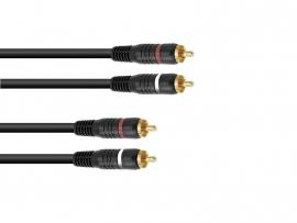 OMNITRONIC RCA-kabel 2x2 0.6m