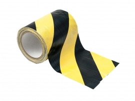ACCESSOIRES Cable tape geel / zwart 150mm x 15m