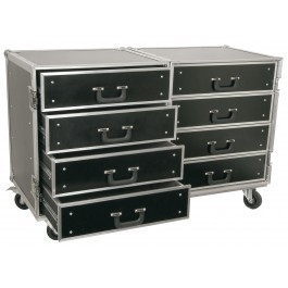 Power Dynamics	PD-FA4 Flightcase Roadie 8 ladenkast