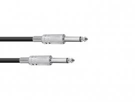 OMNITRONIC Jack kabel 6.3 mono 1m bk