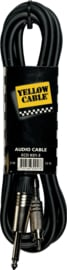 Yellow Cable - Rca male. / jack male. metaal mono