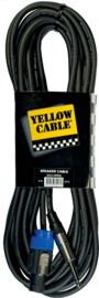 Yellow Cable - Speakon/jack mono male - 9m