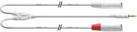 Cordial -  Mini-J. stereo/2 XLR M. lang - 9m wit