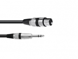 OMNITRONIC Adaptercable XLR(F)/Jack stereo 0.2m bk
