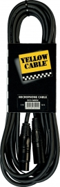 Yellow Cable -  Xlr male/xlr female - 5m