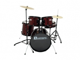 DIMAVERY DS-200 Drum set, wijnrood