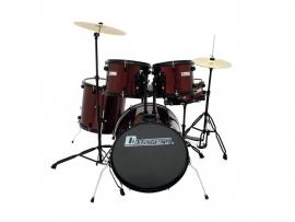 DIMAVERY DS-200 Drum set, wijnrood
