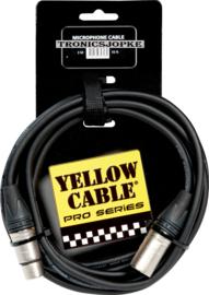 Yellow Cable - neutrik - Xlr male - Xlr female - 3 meter