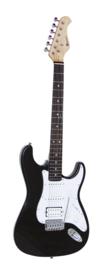 DIMAVERY ST-312 E-gitaar, zwart