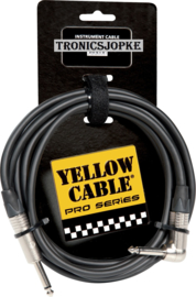 Yellow Cable - Jack - Gebogen Jack - 3 Meter