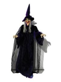 EUROPALMS Halloween figure Witch, animated 175cm