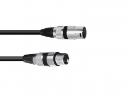 OMNITRONIC - XLR cable - 3pin - 0.2m