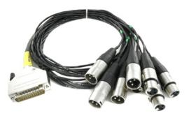 Cordial - D-Sub / m 4 XLR. + 4 XLR f. Tascam - 1.5m