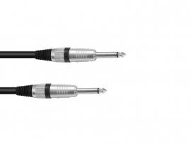 OMNITRONIC Jack kabel 6.3 mono 1m bk ROAD