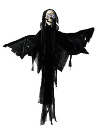 EUROPALMS Halloween figure Angel, animated 165cm