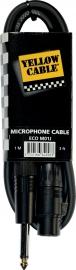 Yellow Cable  Jack mono male/xlr female 1m