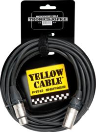 Yellow Cable - Neutrik -  Xlr male - Xlr female  - 6 meter