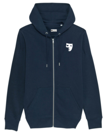 Embroided Mask Men's Zip Hoodie (Purple/White/Navy)