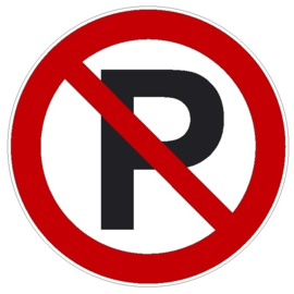 Kunststof bord - Verboden te parkeren