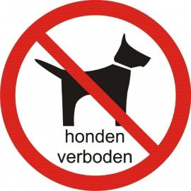 VERBODEN voor Honden sticker
